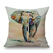Algodón/Lino Cobertor de Cojín,Novedad / Estampado animal / Estampados Moderno/Contemporáneo / Casual