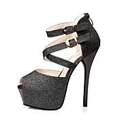Sandaler-GlitterDame-Sort Blå Sølv Guld-Formelt-Stilethæl