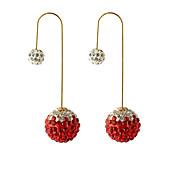 ドロップピアス 女性用 合金 イヤリング 人造真珠