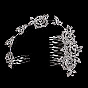 Ženy Perla imitace drahokamu Křišťál Slitina Přílba-Svatba Zvláštní příležitost Neformální Hřebeny na vlasy Jeden díl