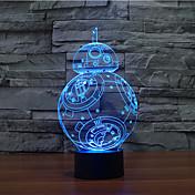 BB-8のタッチ調光3dは、夜の光7colorful装飾雰囲気ランプノベルティ照明クリスマスライトLED