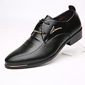 Hombre Oxfords Zapatos formales Cuero Primavera Verano Otoño Invierno Casual Zapatos formales Tacón Plano Negro Marrón 2'5 - 4'5 cms