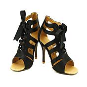 Zapatos de baile (Negro/Rojo/Oro) - Salón de Baile/Danza latina/Salsa - Personalizados