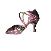Zapatos de baile(Morado) -Latino / Zapatos de Swing-No Personalizables-Tacón Stiletto