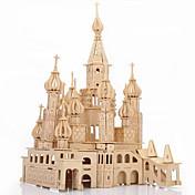 ジグソーパズル 3Dパズル ウッドパズル ビルディングブロック DIYのおもちゃ キャッスル・城 ウッド