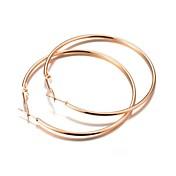 ファッション ゴールドメッキ 合金 円形 リーフ ゴールド シルバー ジュエリー のために 結婚式 パーティー 日常 カジュアル 1ペア