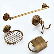 浴室用品セット / タオルバー / トイレットペーパーホルダー / バスローブフック / ソープディッシュ / タオルウォーマー / アンティークブロンズ / ウォールマウント /62*20*12 /真鍮 /アンティーク /62 20 1.98