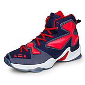 Men's Sneakers Spring / Fall Comfort PU Casual Flat Heel Blue / Yellow / Green / Red / Silver Basketball