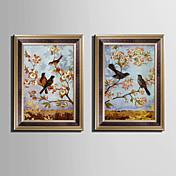 Animal Lienzo enmarcado / Conjunto enmarcado Arte de la pared,PVC Material Marrón Passepartoutno incluido con Marco For Decoración