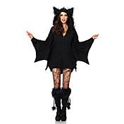 Cosplay Kostýmy Maškarní Kostým na Večírek Upír Festival/Svátek Halloweenské kostýmy Černá Jednobarevné Šaty Více doplňků Halloween Dámské