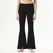 Pantalones de yoga Prendas de abajo Cómodo Cintura Media Eslático Ropa deportiva Negro Mujer Yoga Pilates Ejercicio y Fitness