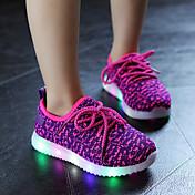 Da ragazza-Sneakers-Casual Sportivo-Comoda Light Up Shoes-Piatto-Tulle-Nero Rosso Blu