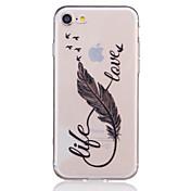 のために iPhone 7ケース / iPhone 7 Plusケース / iPhone 6ケース クリア / エンボス加工 / パターン ケース バックカバー ケース 羽毛 ソフト TPU AppleiPhone 7プラス / iPhone 7 / iPhone 6s