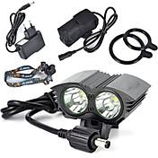 Luces para bicicleta brillo luces para bicicletas luces de seguridad LED Cree XM-L T6 Ciclismo Super Ligero 18650.0 Batería de Litio Con