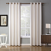 2パネル ウィンドウトリートメント 現代風 , 純色 ベッドルーム ポリエステル 材料 遮光カーテンドレープ ホームデコレーション For 窓
