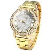 ユニセックス ドレスウォッチ ファッションウォッチ ダミー ダイアモンド 腕時計 / 模造ダイヤモンド クォーツ ステンレス バンド ビンテージ カジュアルスーツ ゴールド