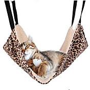Gato Camas Mascotas Colchonetas y Cojines Doble Lado / Leopardo Multicolor Tejido