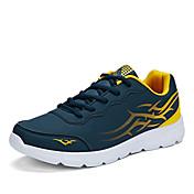 Sneakers-Kunstlæder-Komfort-Herre-Sort Blå Grå-Udendørs Fritid Sport-Flad hæl