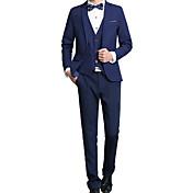 Muži Jednobarevné Běžné/Denní / Společenské / Velké velikosti Jednoduché Obleky-Podzim / Zima Bavlna / Akryl Do V Dlouhý rukávModrá /