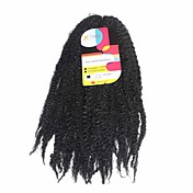háčkované Pre-loop háčkování prýmky Prodloužení vlasů 18Inch Kanekalon Recommended Buy 4 Packs Full Head Pramen 80g gram vlasy copánky