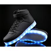 Para Niño-Tacón Plano-Light Up Zapatos Confort-Zapatillas de deporte-Deporte-Cuero PU-Negro Azul Blanco