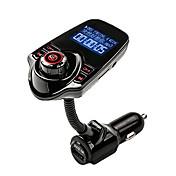 agetunr música mp3 adaptador de radio reproductor de kit de coche manos libres bluetooth transmisor FM con mando a distancia para el