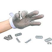 guantes resistentes a tamaño pequeño de los cinco dedos de acero inoxidable de corte