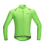 SANTIC Cykeljakke Dame Herre Unisex Cykel Regnfrakke Solbeskyttende tøj JakkeVandtæt Hurtigtørrende Vindtæt Regn-sikker Solcreme Ultralet