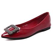 Mujer-Tacón Plano-Confort-Bailarinas-Casual-PU-Negro / Rojo