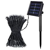 Jiawen 8 modos 10m 100 LED blanco frío o caliente blanca solar impermeable al aire libre llevó luces de la secuencia