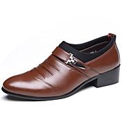 Hombre Zapatos Semicuero Primavera Verano Otoño Invierno Confort Botas de Moda Oxfords Remache Para Casual Fiesta y Noche Negro Marrón