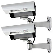 kingneo 2个屋外フェイク/セキュリティ防水CCTV監視用のダミーカメラ