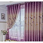2パネル ウィンドウトリートメント 近代の , ハート リビングルーム ポリエステル 材料 遮光カーテンドレープ ホームデコレーション For 窓