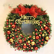 guirnalda de la navidad agujas de pino 2 colores para la decoración de Navidad en casa de 40 cm de diámetro partido navidades Fuentes de