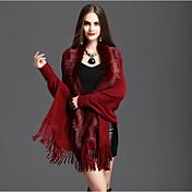 Bufanda Mujer Casual-Algodón / Mezcla de Algodón Un Color Rectángulo