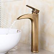 amerikansk standard Centerset enkelt håndtag et hul i antik bronze håndvasken vandhane