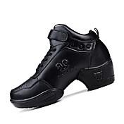 レディース-ダンスシューズ(ブラック) -オーダーメイド不可-チャンキーヒール-ダンススニーカー