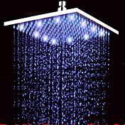 Contemporáneo Ducha lluvia Níquel Cepillado Característica for  LED Efecto lluvia , Alcachofa de la ducha