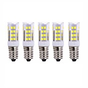 5Pcs Con Cable Others E14 51Led Smd2835 5w  850Lm AC220   White Warm Natural White Small Ceramic Corn Lamp Other