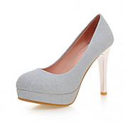 Mujer-Tacón Stiletto-Light Up Zapatos-Tacones-Oficina y Trabajo Informal Vestido-Semicuero-Dorado Morado Plateado Azul