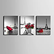 キャンバスセット 風景 欧風,3枚 キャンバス 縦長 版画 壁の装飾 For ホームデコレーション