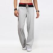 Rovné Kalhoty chinos Muži Kalhoty-Jednobarevné Běžné/Denní Aktivní Mid Rise Šňůrky Bavlna Mikroelastické All Seasons