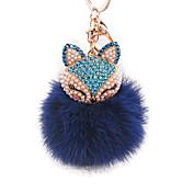 diamant liška hlava králičí kožešiny míč z lehké slitiny klíčenka módní tašky ozdoby