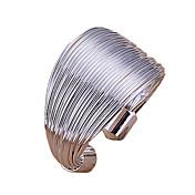 指輪 調整可能 日常 ジュエリー 合金 バンドリング調整可 シルバー