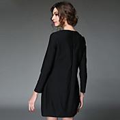 aofuli女性は2016年ヨーロッパのヴィンテージ刺繍パッチワークストライププリーツエレガントな緩いプラスサイズドレスドレス