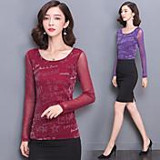 ガーゼシャツをブロンズスリムヤードの春と秋の新韓国語バージョンソリッドカラーのTシャツの女性の長袖シャツの潮