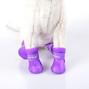 Gatos / Perros Zapatos y Botas A Prueba de Agua Invierno / Verano / Primavera/Otoño Un Color Verde / Azul / Morado / Negro / Rosa Cuero PU