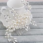 Ženy imitace drahokamu Imitace perly Přílba-Svatba Zvláštní příležitost Hřebeny na vlasy Jeden díl