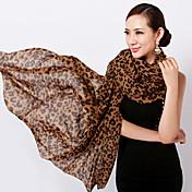 Bufanda Mujer Vintage / Casual-Raso Leopardo Rectángulo