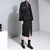 Xie Jin diseño nuevo bolsillo con cremallera de invierno abrigo de lana párrafo corto